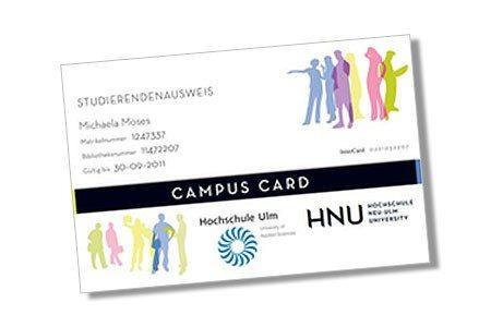 Vorderseite der Campus Card der Hochschule Neu-Ulm