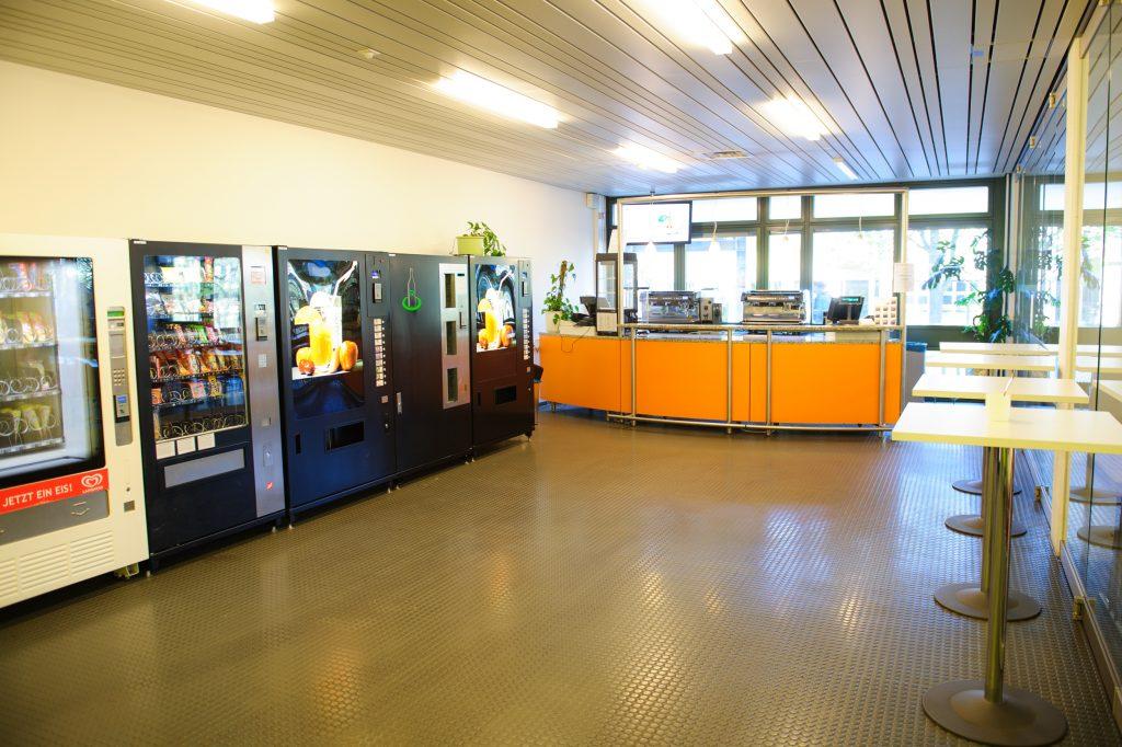 Café bar at the cafeteria, building D