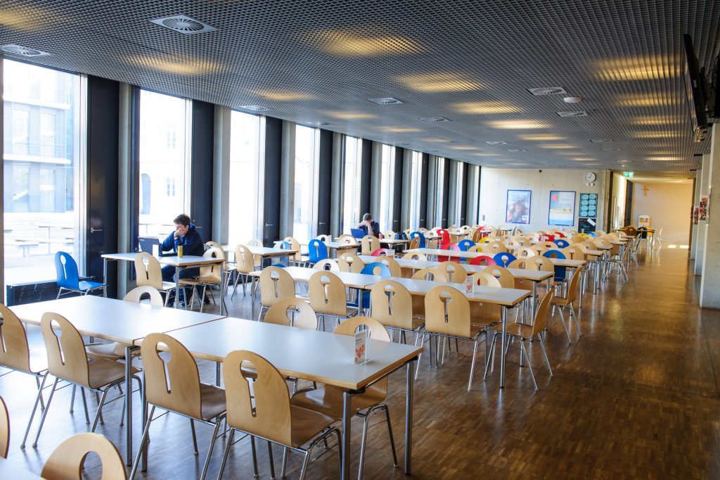 Mensa Hochschule Augsburg Sitzgelegenheit