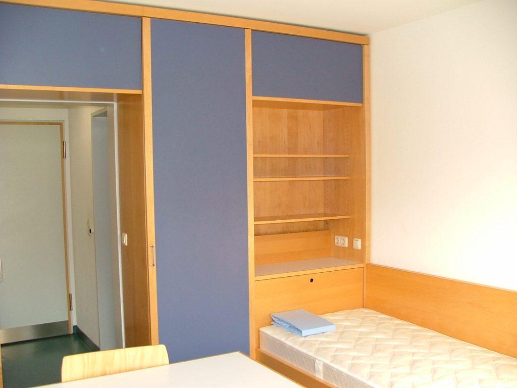 Wohnanlage Baustudierende Zimmer