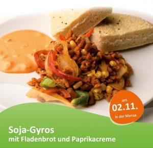veganes Gericht Soja-Gyros